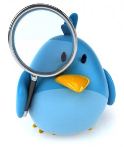 blue bird plush holding magnifying glass