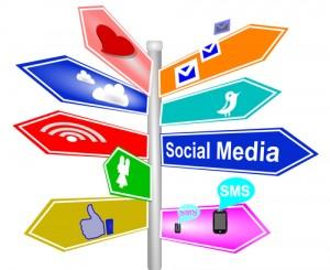 colorful social media arrows