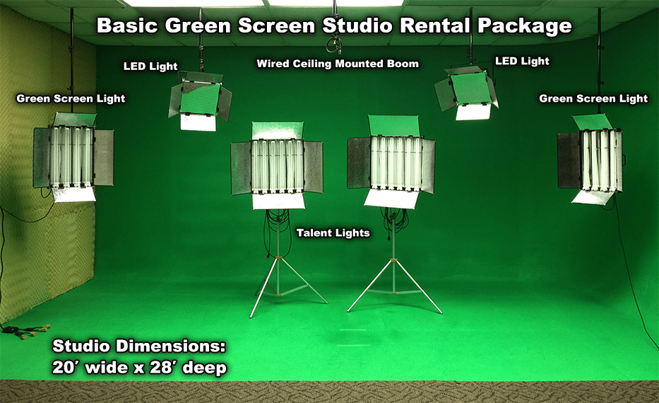 Basic Green Screen Studio Rental